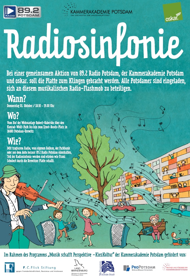 Kammerakademie Potsdam und Radio 89.2 laden zur Radiosinfonie im Drewitzer Kiez