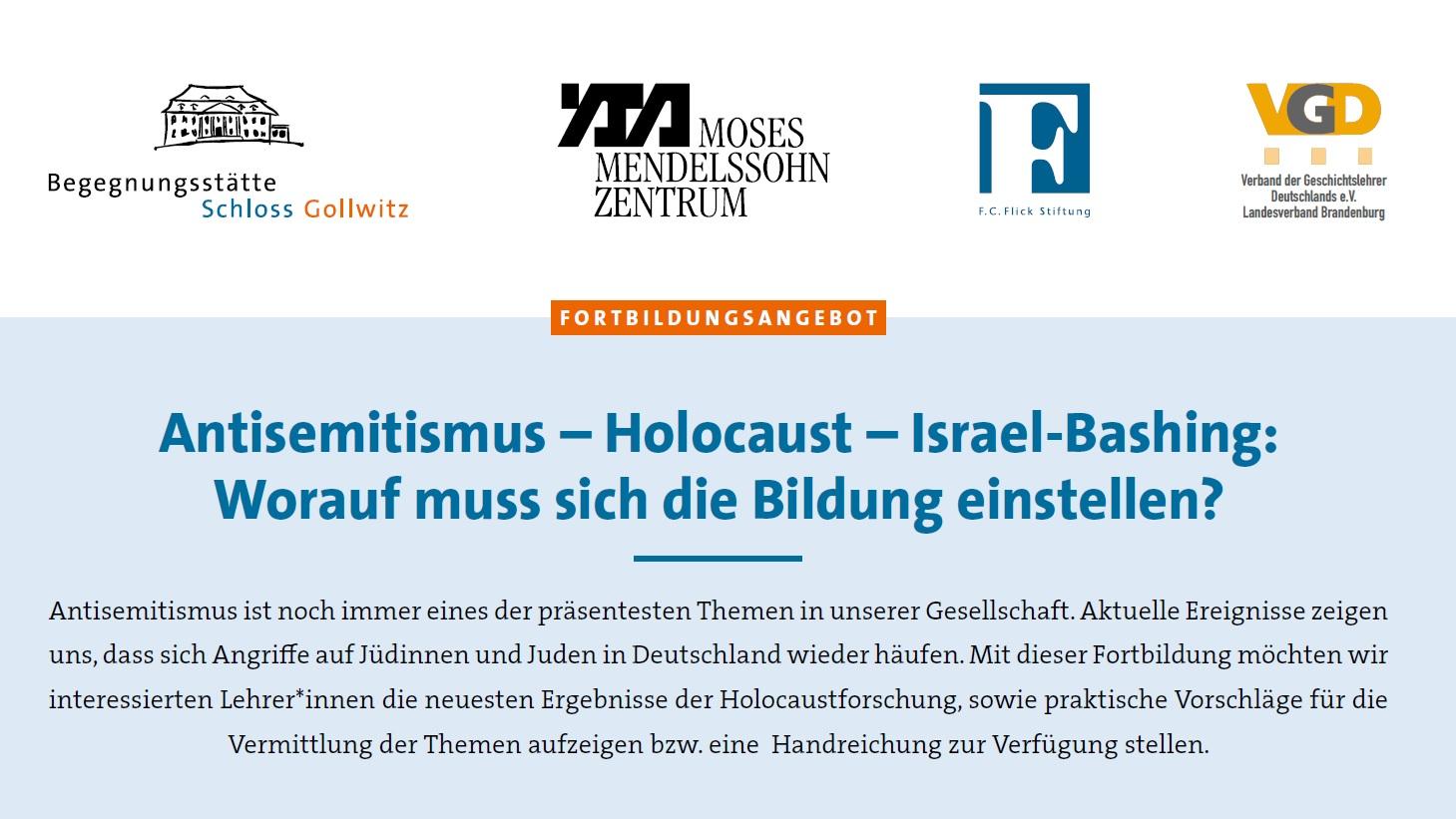 LehrerInnenfortbildung zum Thema Antisemitismus auf Schloss Gollwitz