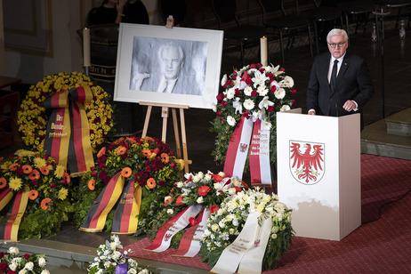 Gedenkfeier für Manfred Stolpe in der Nikolaikirche in Potsdam