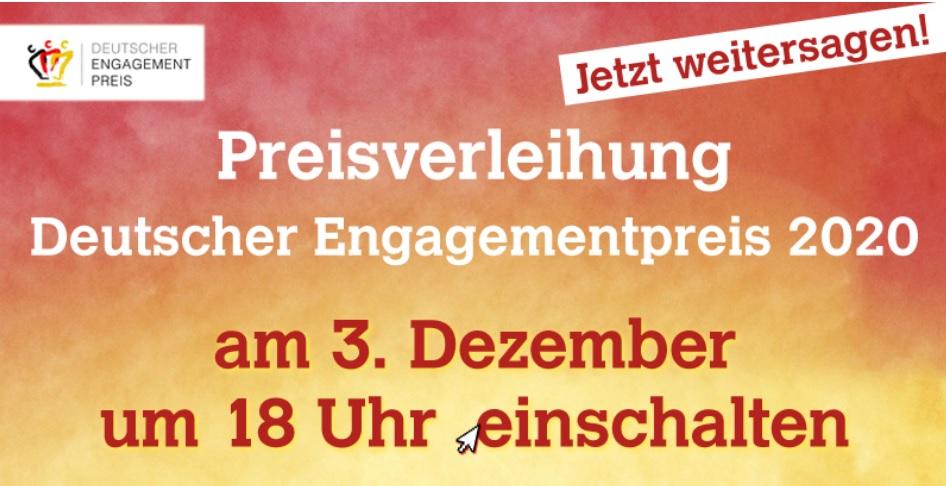 Preisverleihung Deutscher Engagementpreis 2020