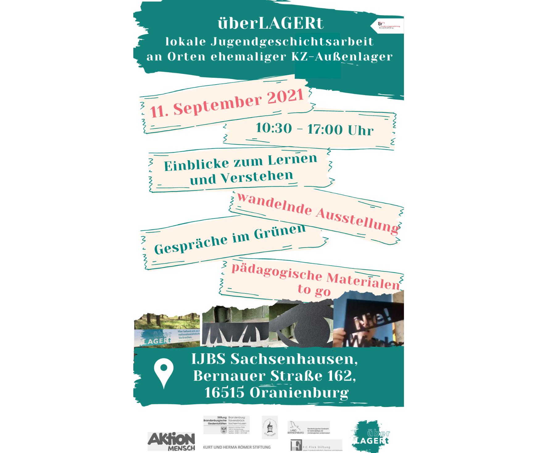 """Abschlussveranstaltung: """"überLAGERt"""" – lokale Jugendgeschichtsarbeit an Orten ehemaliger KZ-Außenlager in Brandenburg"""""""